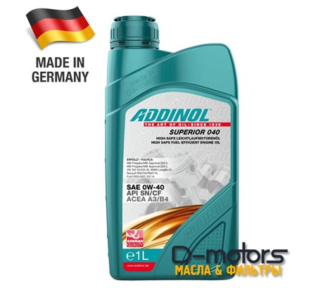 ADDINOL SUPERIOR 040 0W-40 (1л)
