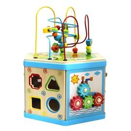 База игрушек Развивающий деревянный куб-лабиринт 7 в 1 большого размера