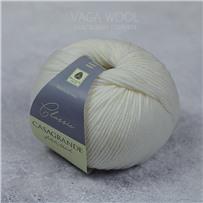Пряжа Classic 100% меринос, 002 Bianco panna, 125м/50г, Casagrande