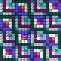 ПЛЕД-КВАДРАТ Фиолетово-зелёный, размер ИДЕАЛ