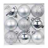 Набор ёлочных шаров INGE'S Christmas Decor 81191G002 d 6 см, серебро (9 шт)