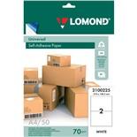 Этикетка самоклеящаяся Lomond 210х148,5 мм 50 листов по 2 шт белая 2100225