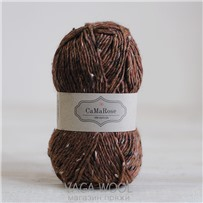 Пряжа Lama Tweed Каштан 6412, 100м/50г, CaMaRose, Kastaniebrun