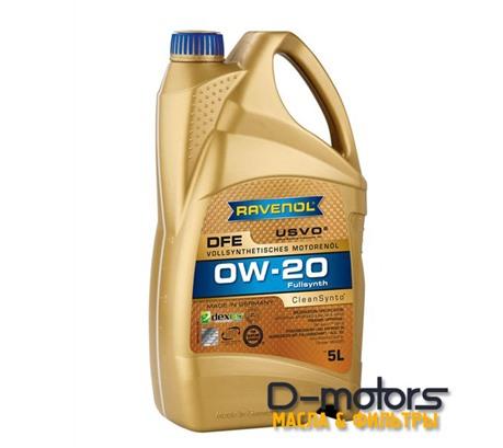 Моторное масло Ravenol DFE 0W-20 (5л.)