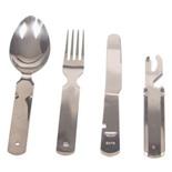 Набор столовых приборов Следопыт в чехле (ложка, вилка, нож, открывашка) PF-CWS-P59