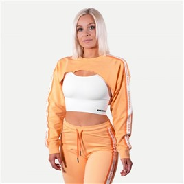 Укороченный свитшот Better Bodies Chrystie cropped Longsleeve, светло-оранжевая