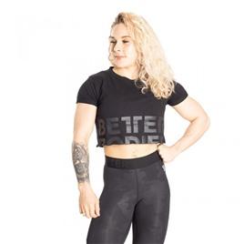 Укороченная футболка Better Bodies Astoria cropped tee, черная