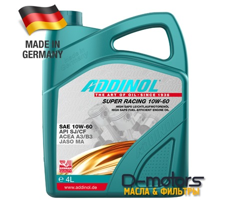 ADDINOL SUPER RACING 10W-60 (4л)