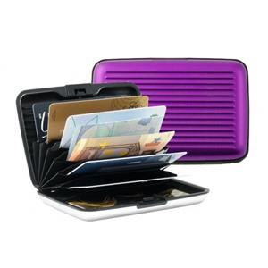Алюминиевый рифленый кошелек Aluma Wallet (Алюма Валет) цвет сиреневый, оригинал в коробочке.