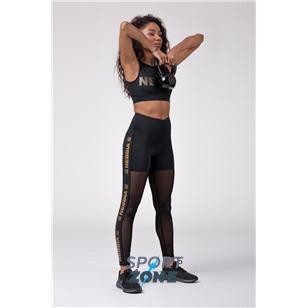 NE Gold Mesh leggings цв.чёрный