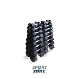 Набор гексагональных гантелей 16 пар от 1 до 25 кг