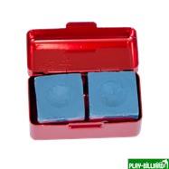 Ball Teck Мел «Ball teck PRO II» (2 шт, в красной металлической коробке) синий, интернет-магазин товаров для бильярда Play-billiard.ru. Фото 9