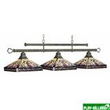 "Лампа на три плафона ""Mission Lotus"" (old brown), интернет-магазин товаров для бильярда Play-billiard.ru"