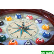 """Часы настенные """"Штурвал"""" 50 см х 50 см, деревянные, интернет-магазин товаров для бильярда Play-billiard.ru. Фото 5"""