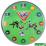 Weekend Часы настенные «12 шаров» D32 см (зеленые), пластик, интернет-магазин товаров для бильярда Play-billiard.ru