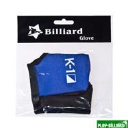 Weekend Перчатка бильярдная «K-1» (черно-синяя, вставка кожа), интернет-магазин товаров для бильярда Play-billiard.ru. Фото 5