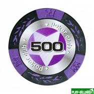 Набор для покера Black Stars на 500 фишек, интернет-магазин товаров для бильярда Play-billiard.ru. Фото 2