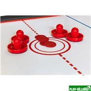 DBO Cтол-трансформер «Twister» 3 в 1 (бильярд, аэрохоккей, настольный теннис, 217 х 107,5 х 81 см, черный), интернет-магазин товаров для бильярда Play-billiard.ru. Фото 10