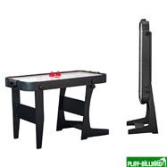 Аэрохоккей «Jersey» 4 ф (122 х 60 х 76,5 см, черный, складной), интернет-магазин товаров для бильярда Play-billiard.ru. Фото 1