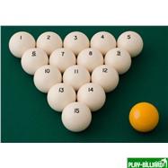 """Комплект шаров 68 мм """"Classic А-качество"""", интернет-магазин товаров для бильярда Play-billiard.ru. Фото 2"""