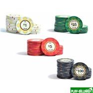 Набор для покера Luxury Ceramic на 200 фишек, интернет-магазин товаров для бильярда Play-billiard.ru. Фото 5