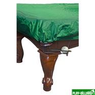 Weekend Покрывало для стола 9 ф (влагостойкое, зеленое, резинки на лузах), интернет-магазин товаров для бильярда Play-billiard.ru