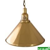 Weekend Лампа на один плафон «Elegance» (золотистая чашка, золотистый плафон D35см), интернет-магазин товаров для бильярда Play-billiard.ru