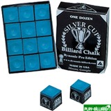 "Мел ""Silver Cup Dynamic Pro"" (12 шт) синий, интернет-магазин товаров для бильярда Play-billiard.ru"