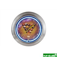 "Weekend Часы настенные неон ""Billiard Clock"", интернет-магазин товаров для бильярда Play-billiard.ru"