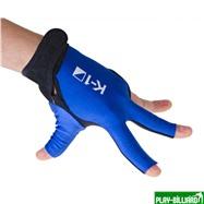 Weekend Перчатка бильярдная «K-1» (черно-синяя, вставка кожа), интернет-магазин товаров для бильярда Play-billiard.ru. Фото 3