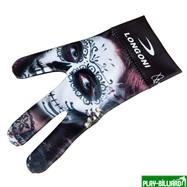 Longoni Перчатка бильярдная «Longoni Fancy Skull 1», интернет-магазин товаров для бильярда Play-billiard.ru. Фото 1