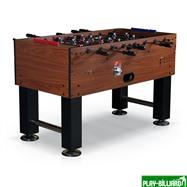 Настольный футбол (кикер) «Monaсo» (140x73x91см, коричневый, жетоноприемник), интернет-магазин товаров для бильярда Play-billiard.ru. Фото 1