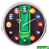 Weekend Часы настенные «12 шаров» D27 см (хром), пластик, интернет-магазин товаров для бильярда Play-billiard.ru