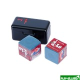 Ball Teck Мел «Ball teck PRO II» (2 шт, в черной металлической коробке) синий, интернет-магазин товаров для бильярда Play-billiard.ru