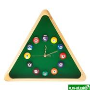 """Часы настенные """"Треугольник"""" (дуб) 40 см х 35 см, деревянные, интернет-магазин товаров для бильярда Play-billiard.ru. Фото 1"""