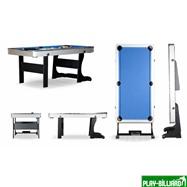 Weekend Складной бильярдный стол для пула «Team I» 6 ф (черный) ЛДСП, интернет-магазин товаров для бильярда Play-billiard.ru. Фото 2