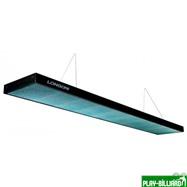 Norditalia Ricambi Лампа плоская светодиодная «Longoni Compact» (черная, бирюзовый отражатель, 247х31х6см), интернет-магазин товаров для бильярда Play-billiard.ru