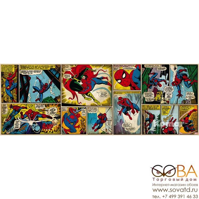 Фотообои Komar Marvel Comic Spider-Man артикул 1-435 размер 202 x 73 cm площадь, м2 1,4746 на бумажной основе купить по лучшей цене в интернет магазине стильных обоев Сова ТД. Доставка по Москве, МО и всей России