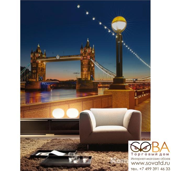 Фотообои Komar Tower Bridge артикул 8-927 размер 368 x 254 cm площадь, м2 9,3472 на бумажной основе купить по лучшей цене в интернет магазине стильных обоев Сова ТД. Доставка по Москве, МО и всей России