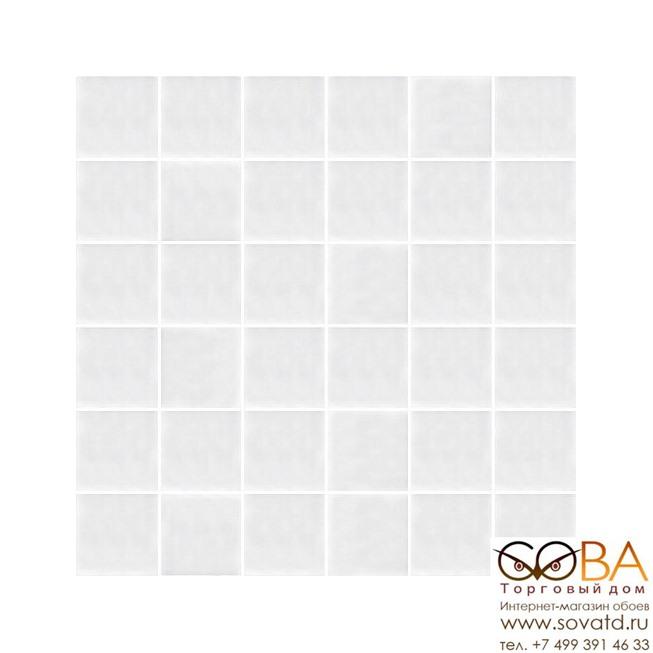 Декор Kerama Marazzi  мозаичный Авеллино белый 30,1х30,1 купить по лучшей цене в интернет магазине стильных обоев Сова ТД. Доставка по Москве, МО и всей России