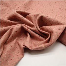 Фланель красные мелкие розочки на розовом (утепленная)