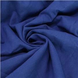 Конопляная ткань васильково синего цвета №73