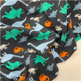 Флис динозавры на сером
