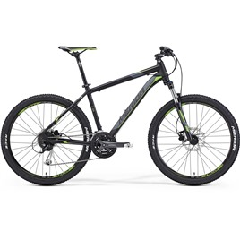 Велосипед Merida (2015) Matts 6.100 Matt Black/Dk.Grey/Green , интернет-магазин Sportcoast.ru