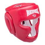 Шлем закрытый RV-301, кожзам, красный