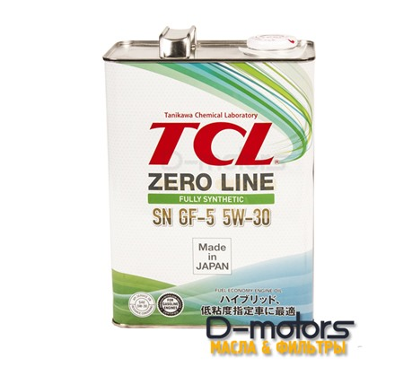 Моторное масло TCL Zero Line 5W-30 SN/GF-5 (4л.)