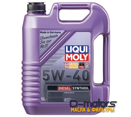 Моторное масло Liqui Moly Diesel Synthoil 5w-40 (5л.)