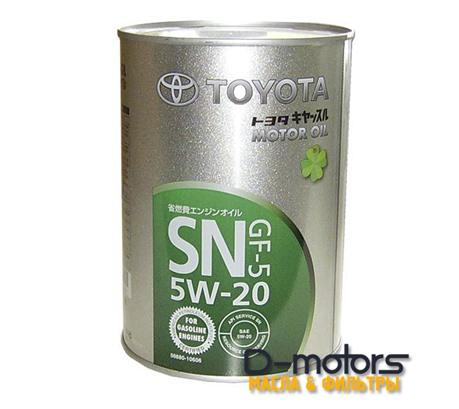 TOYOTA MOTOR OIL 5W-20 SN/GF-5 (1л.)