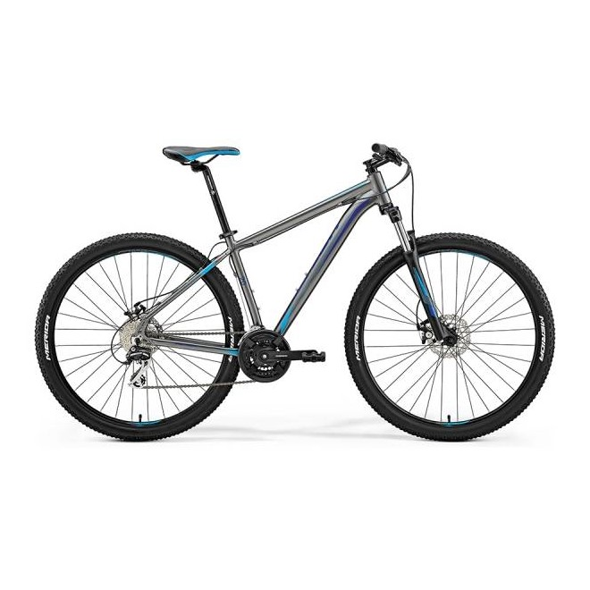 Велосипед Merida Big Nine 20-MD Silk Antracite (Sky Blue/Blue) 2018, интернет-магазин Sportcoast.ru