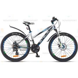 Велосипед Stels Navigator 470 MD 24 (2016) Белый/Черный/Синий , интернет-магазин Sportcoast.ru
